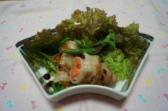 塩麹漬野菜の肉巻き