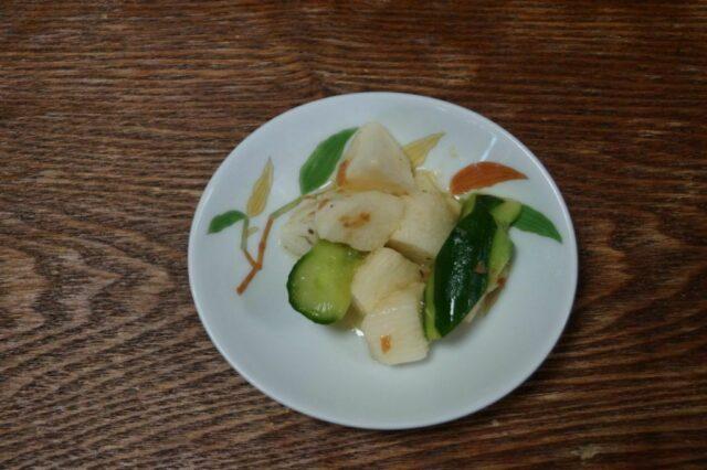 山芋の梅肉和え