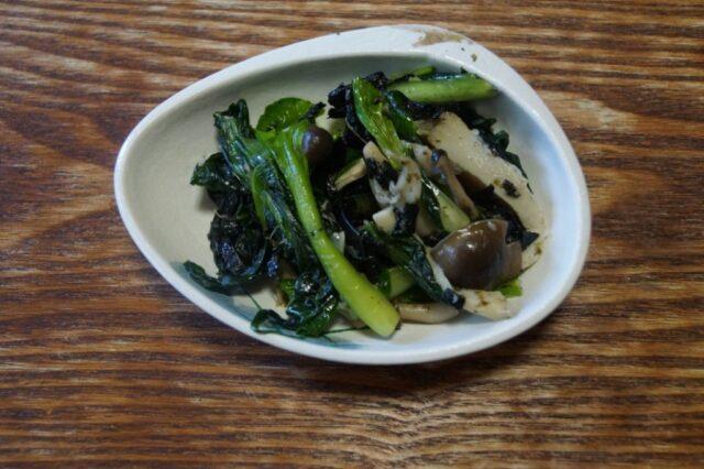青菜と海苔のナムル