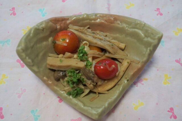 トマトとエリンギのマリネ