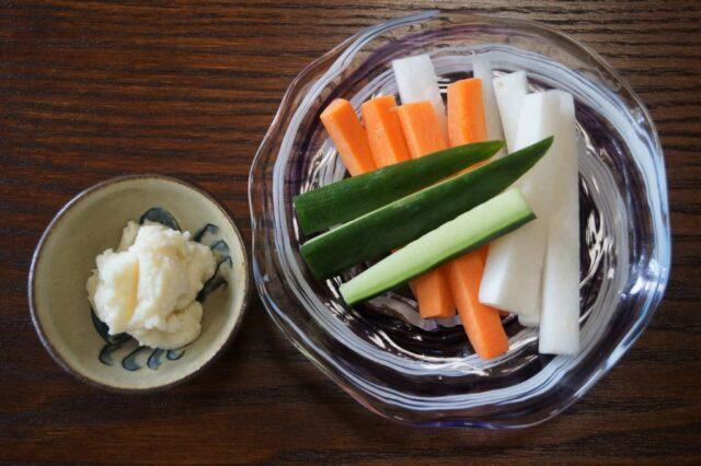 スティックサラダ(発酵バター添え)
