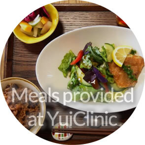 Meals provided at Yui Clinic