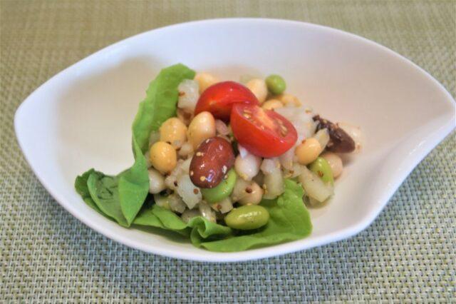 豆と玉ねぎサラダ