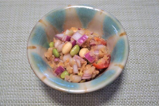 レンズ豆と枝豆のサラダ