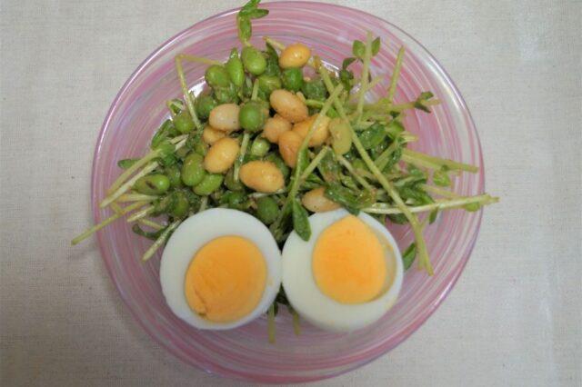豆と豆苗のサラダ