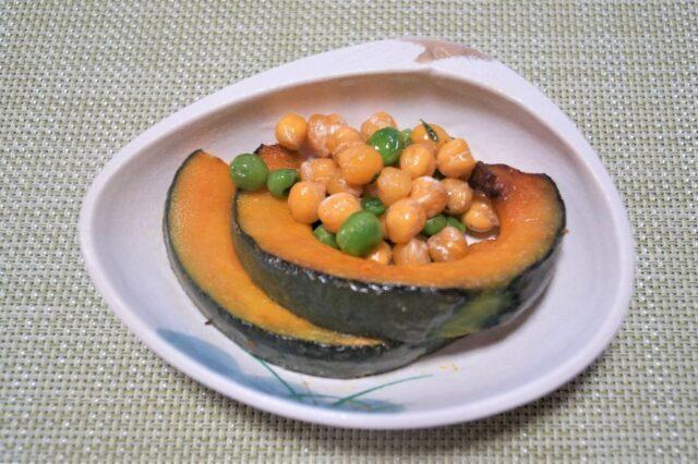 焼きカボチャとひよこ豆