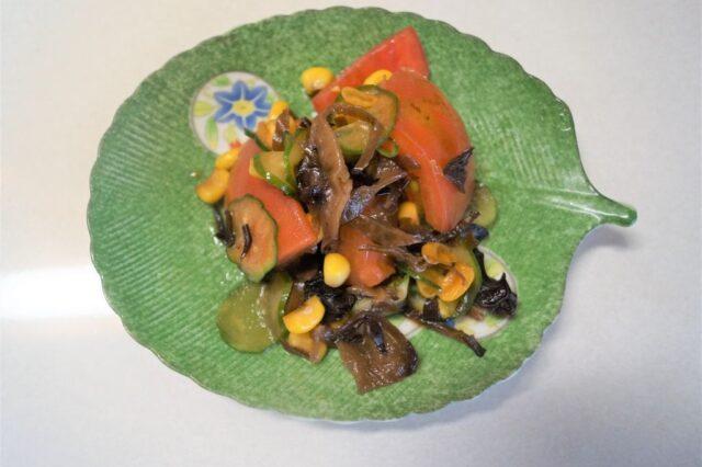 キクラゲと胡瓜の和え物