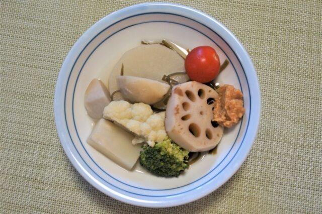 冬野菜の和風ポトフ 生姜味噌添え