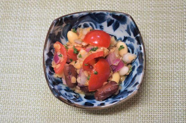 レンズ豆と枝豆の和え物