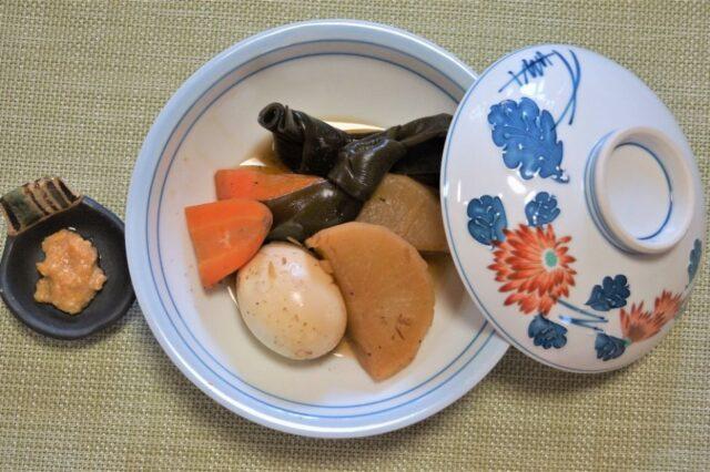 大根ポトフ 柚子味噌ダレ(茹で卵添え)
