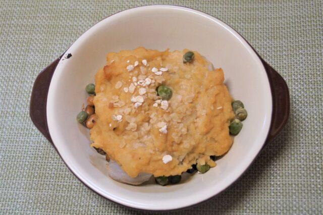 里芋と納豆の豆乳味噌グラタン