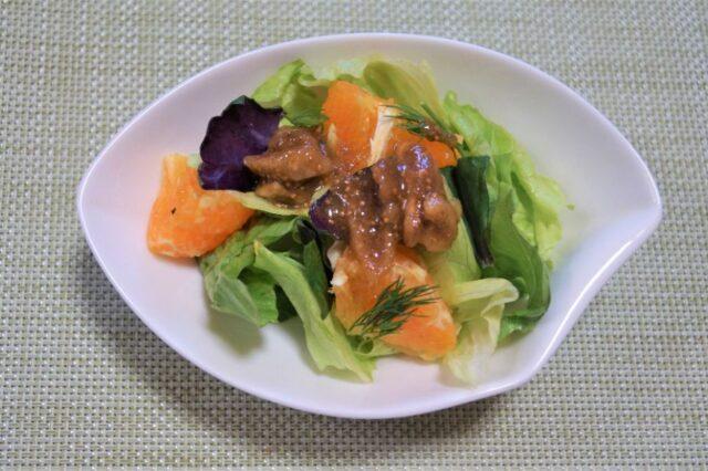 みかんとイチジクのレタスサラダ