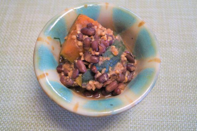 カボチャの小豆煮