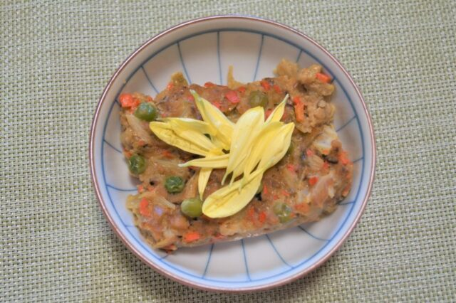 高野豆腐の野菜蒸し