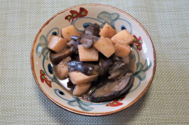 ナスと長芋のピリ辛炒め