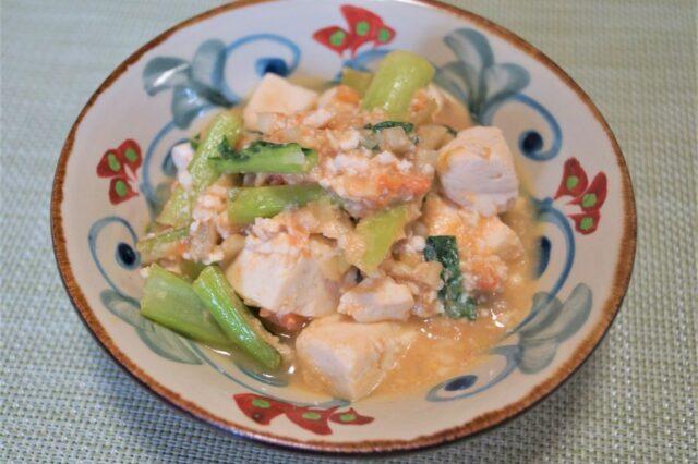 豆腐の甘酒味噌炒め