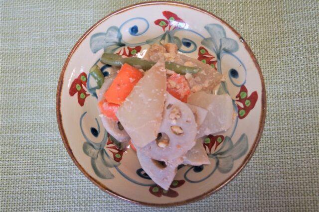 根菜の酒粕ナッツ煮