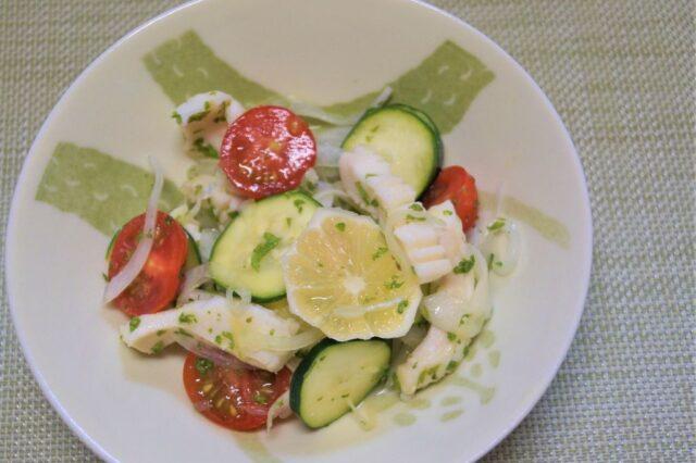 イカと夏野菜のマリネ