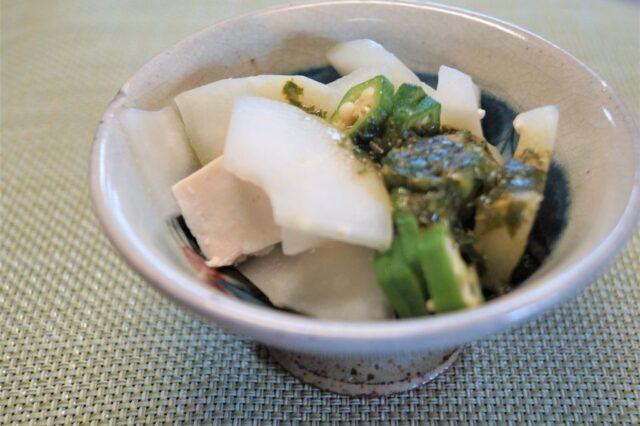 バルサミコドレッシングの豆腐サラダ