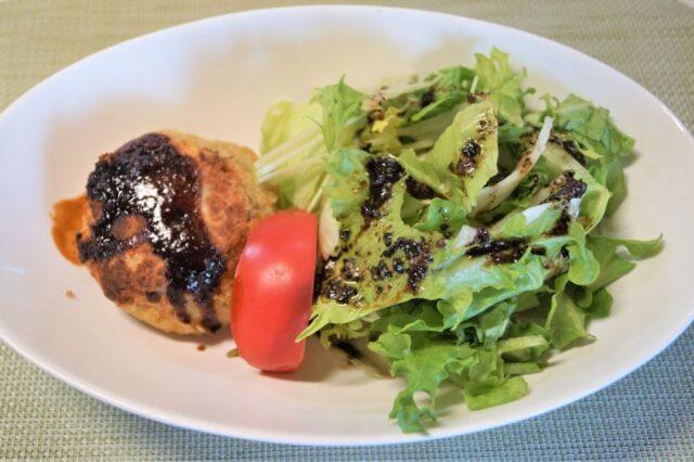 色々野菜の照り焼きハンバーグ