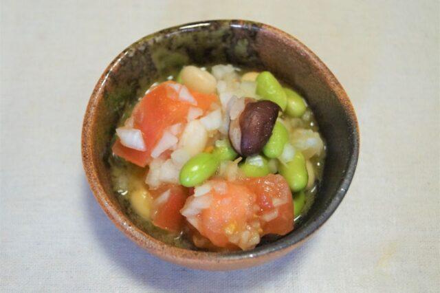 トマトの豆マリネ
