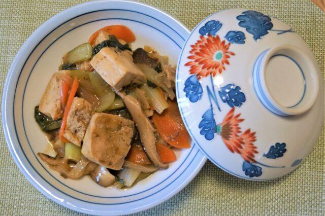 凍り豆腐と野菜の醤油麹あん