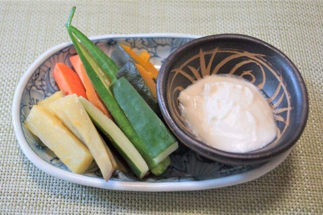 野菜のココナッツマヨディップ