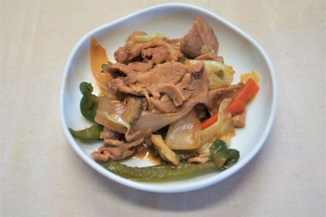 ゴーヤ入り豚肉とキャベツの甘辛炒め