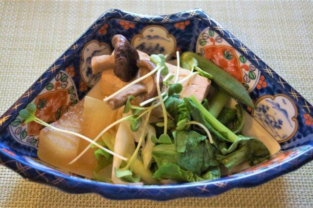 夏のけんちん風豆腐鍋