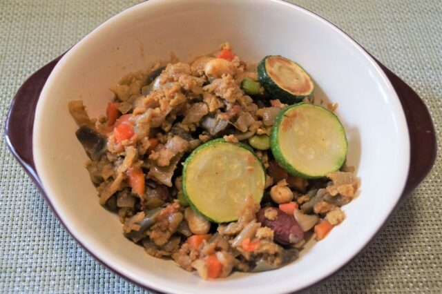 高野豆腐と夏野菜のドライカレー