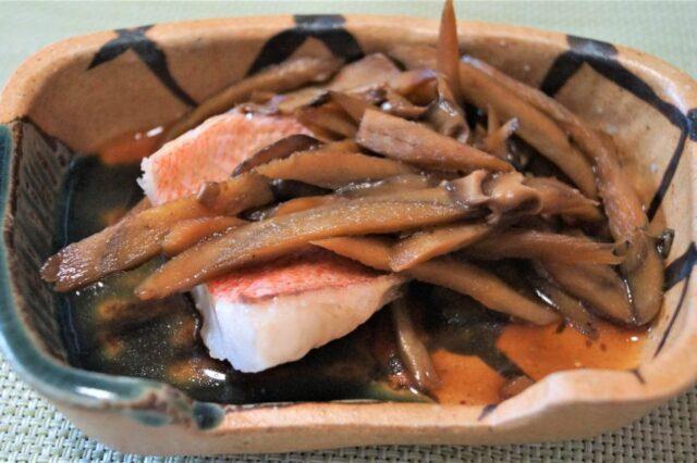 白身魚とごぼうの甘酢ソテー