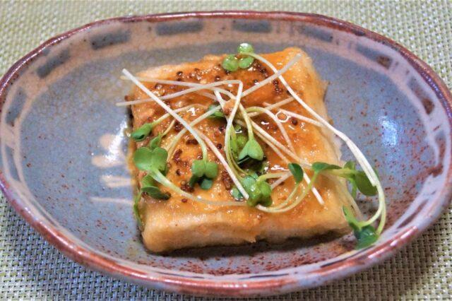 豆腐ソテー 胡麻マスタードソース