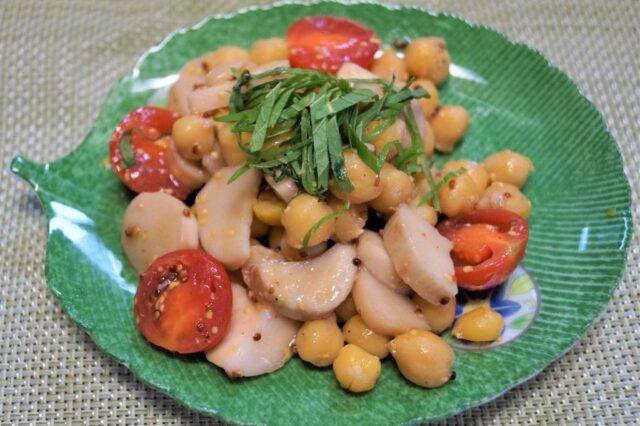 エリンギとひよこ豆のハニーマリネ
