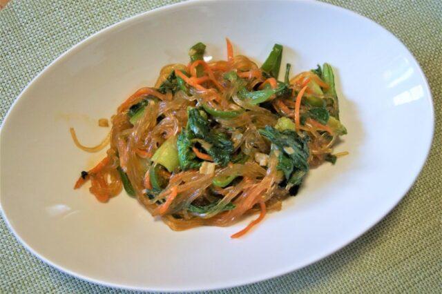 青菜と春雨の炒め物