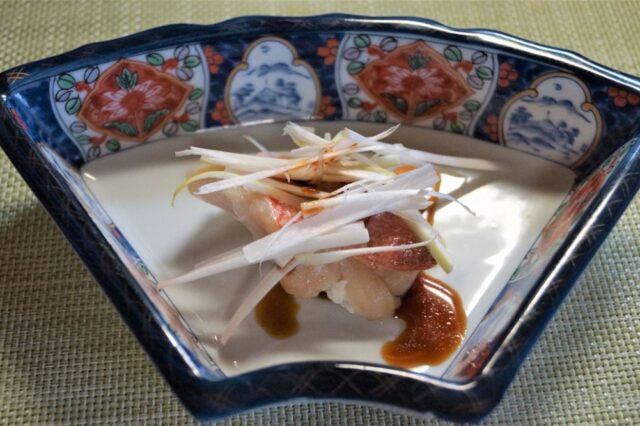 魚の蒸し焼き ポン酢しょうゆがけ