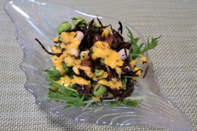 ひじきと豆の水菜サラダ