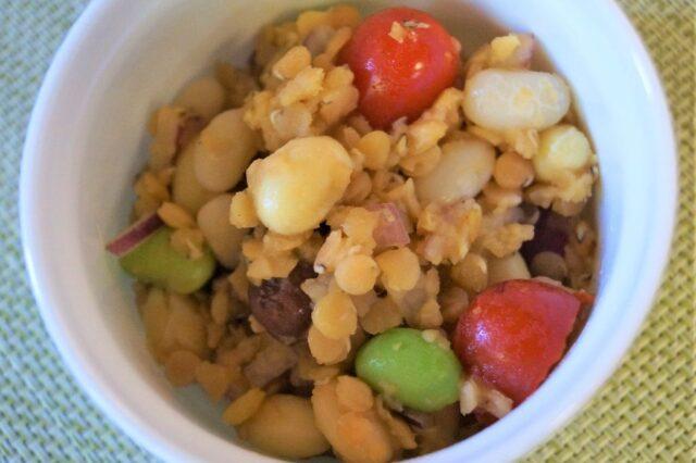 レンズ豆とミックスビーンズサラダ