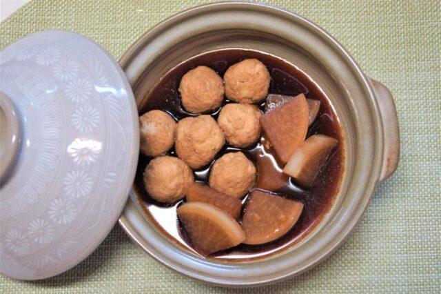 鶏団子と大根の甘辛鍋