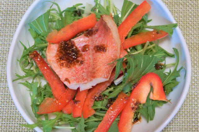白身魚のマスタードサラダ
