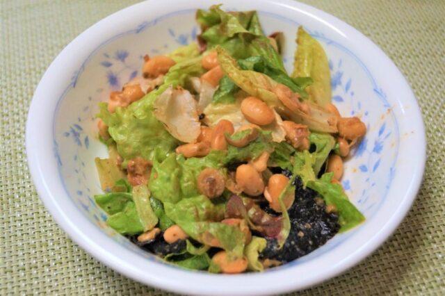 葉野菜と焼き海苔のサラダ