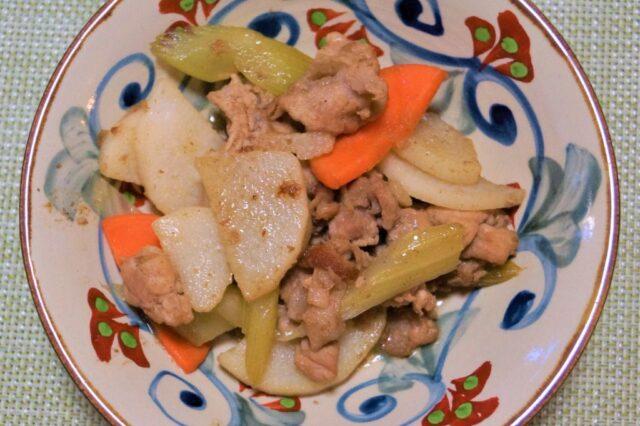 豚肉と長芋のバルサミコソテー