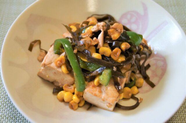 豆腐とトウモロコシのチャンプルー