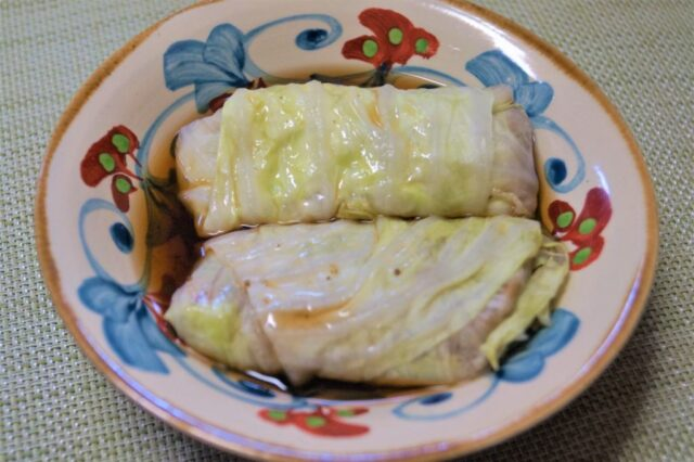 高野豆腐のロールキャベツ