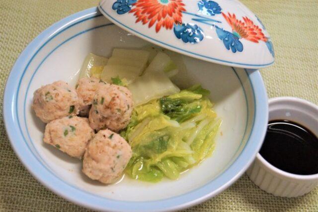 白菜と鶏つみれの煮物