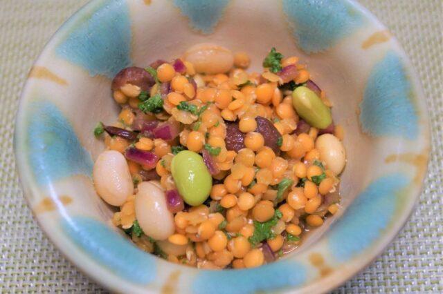 レンズ豆と枝豆のマリネ