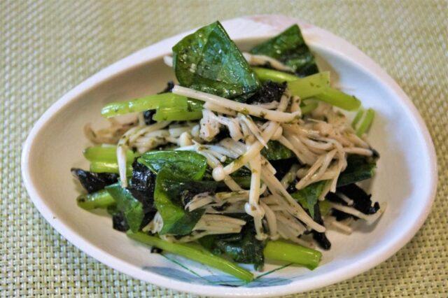 小松菜と海苔のナムル