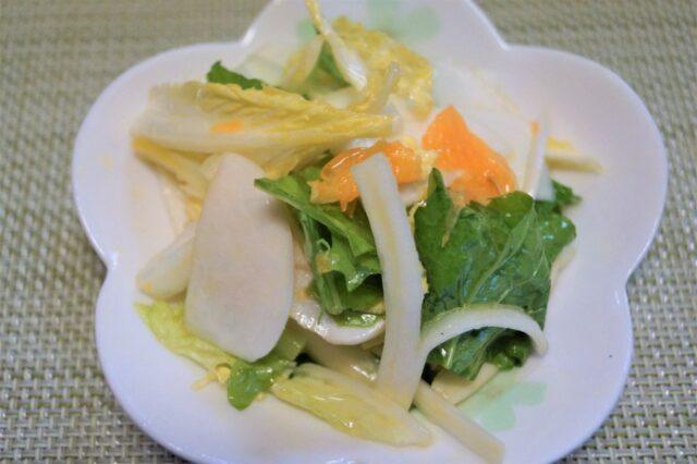 みかんと白菜の和え物