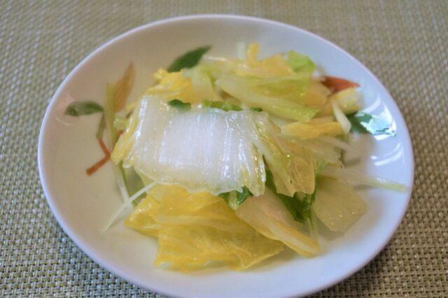 白菜の韓国風和え物