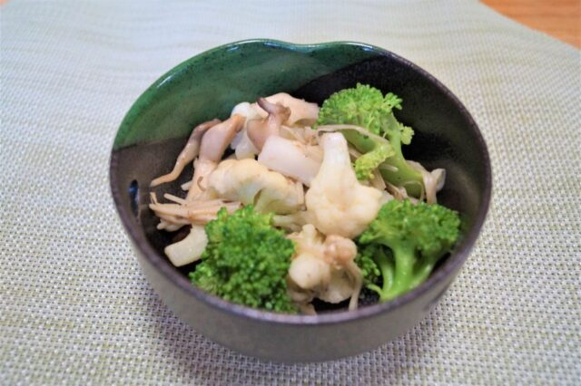 冬野菜ときのこの和え物