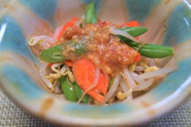 野菜の酢味噌掛け